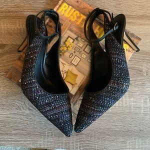 White House Black Market Tweed heels